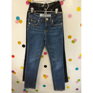 Justice Girls (4+) Bundle 2 Pc Blue Jeans Size L